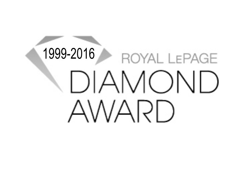 1999 - 2016 Royal LePage Diamond Award logo.