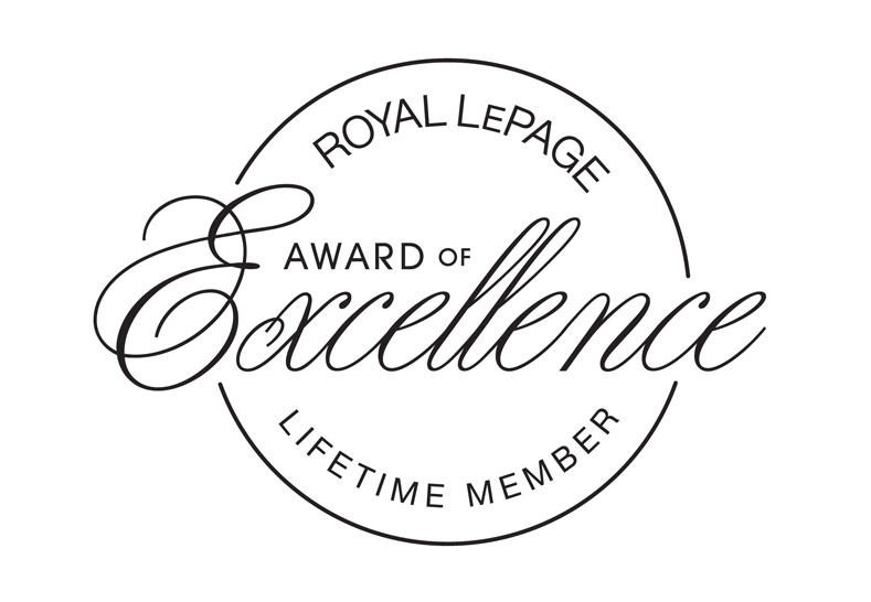 Royal LePage Award of Excellence Lifetime Member logo.