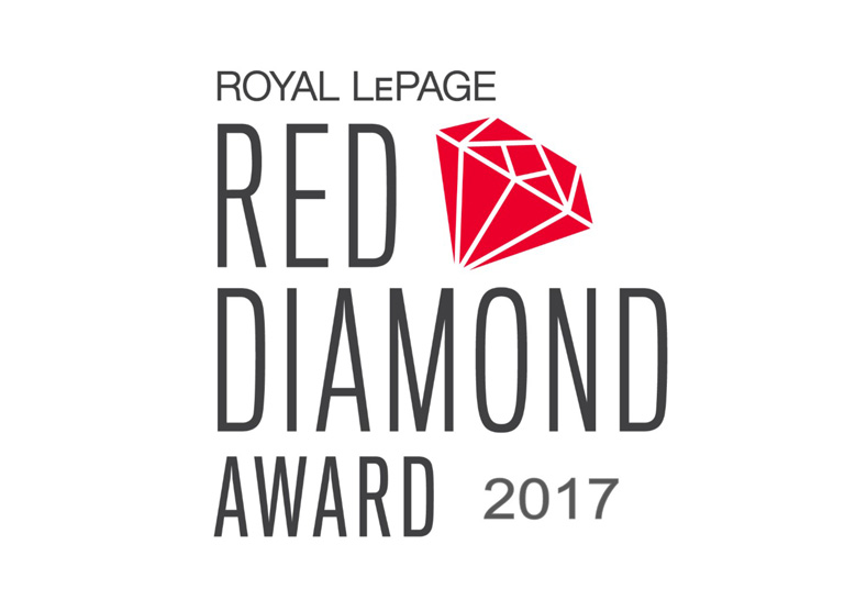 Royal LePage Red Diamond Award 2017 logo.