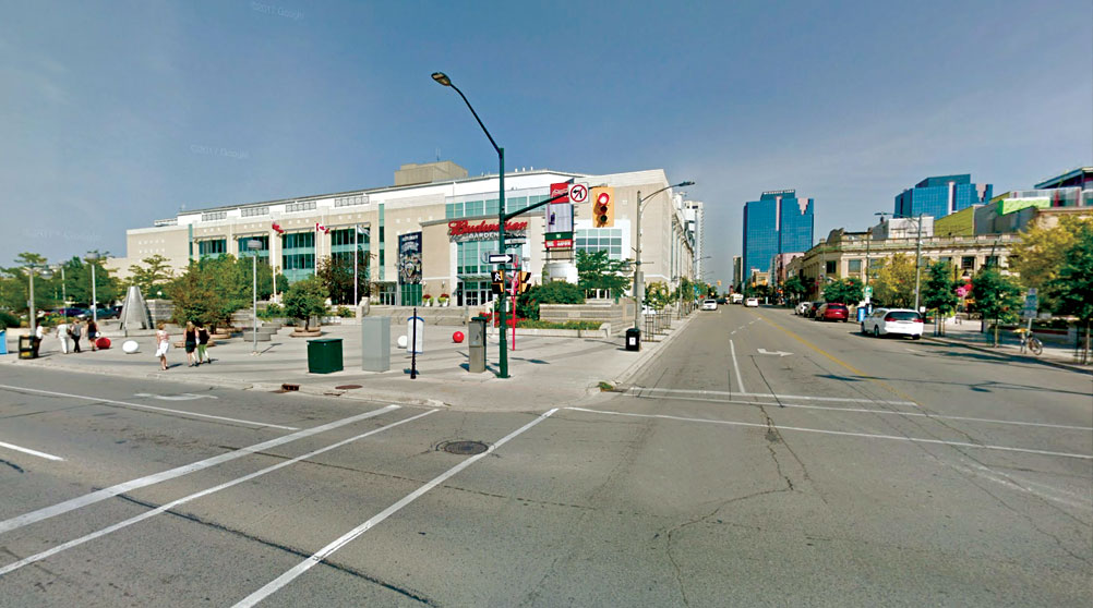 Budweiser Gardens in downtown London.